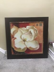 Framed flower wall art quality