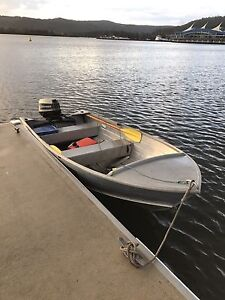12ft Aluminium Tinny Boat w/Trailer, 25hp Johnson Outboard, Rego! Kariong Gosford Area Preview