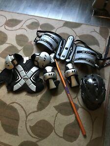 Full box lacrosse set