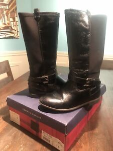 Tommy Hilfiger Leather/Neoprene Boots Size 3