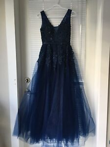 Navy blue occasion dress