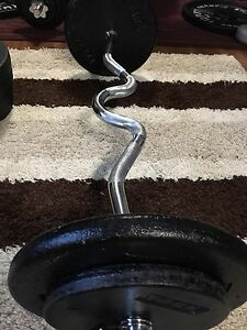 Curl-Bar steel Weights
