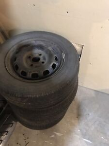 """13"""" rims and tires off Toyota Tercel"""