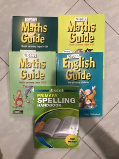 Primary maths, English & Spelling guide books