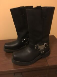 Harley Davidson Square Toe Leather riding boots