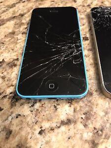 Cracked iPhone 5S AND iPhone 5C  Cambridge Kitchener Area image 1
