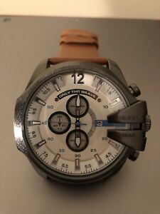 Real Leather DIESEL Watch - Men's