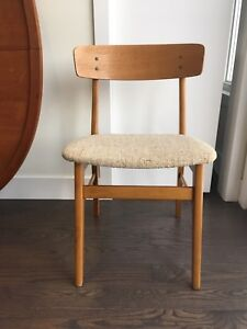 Set of four mid century modern chairs