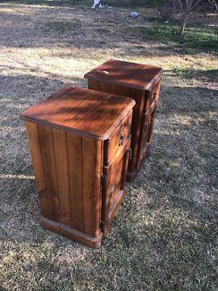 Solid wood bedside tables