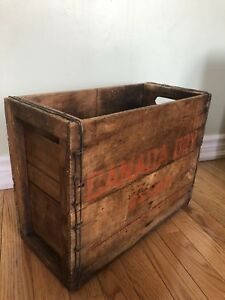 Vintage Canada Dry Syrup Barnboard Crate Box