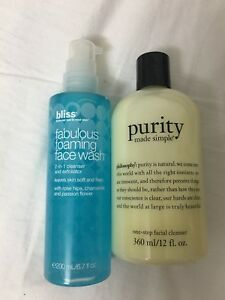 Philosophy Purity Cleanser, Bliss Fabulous Foaming Face Wash