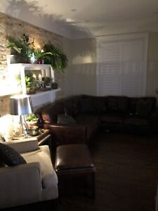 Restoration Hardware Leather Couch