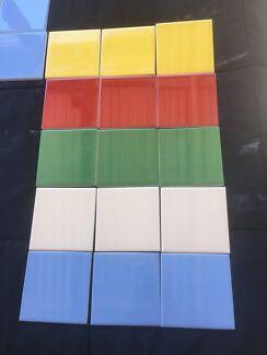 TILES.   10x10cm. Assorted Colours   NEW