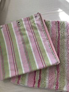 Shower curtain and floor mat - Pottery Barn Kids