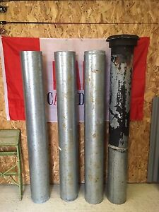 """20' Galvanized 7"""" Double Wall Stove Pipe"""