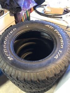 4 16 inch 255/70/16 tires