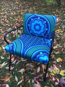 Amazing midcentury chair Heals Peter Hall vintage fabric