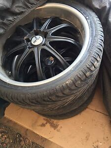 "Set of 20"" rims and tires"