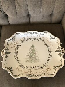 Beautiful Christmas Turkey Platter