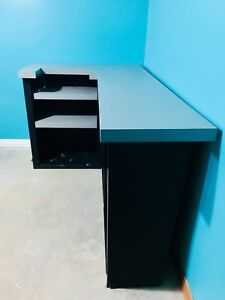 Unique Large Bar / Counter- Black with Grey Countertop