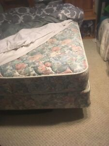 Queen size mattress, box spring and frame