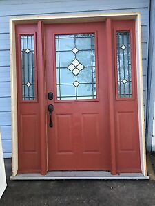 Double sidelight and door with frame