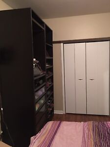Gently used pax system wardrobe IKEA