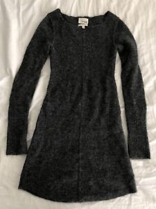 Aritzia Wilfred Free Wool Grey Dress - Size XXS