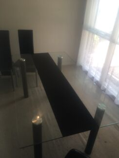 7 piece dining table and chairs.