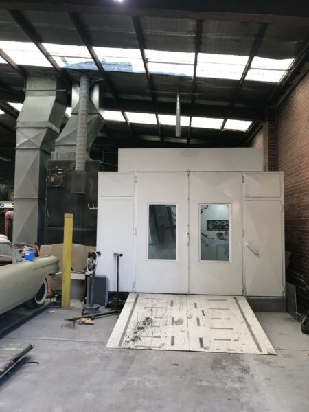 Low bake oven / spray booth