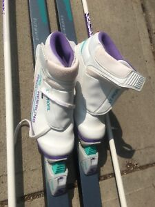 Cross country skis & boots size 38