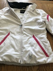 Womens Spyder Ski Jacket (white) - Size 4