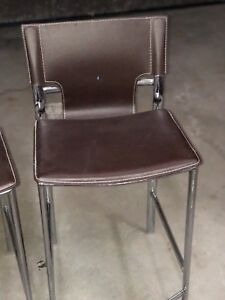 Leather Bar stools and dining chairs