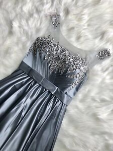Special Occasions-Sliver Grey Maxi Dress