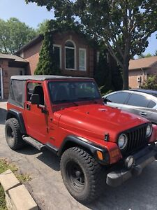 2002 Jeep TJ 4.0L hard/soft top