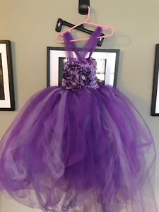 Beautifully handmade purple dress