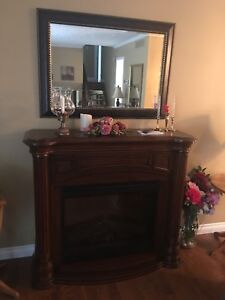Fireplace & Mirror