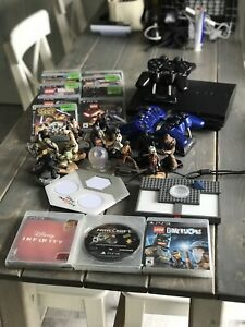 Sony PlayStation PS3 4 controllers & games