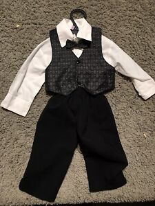 Boys 4 piece suit, worn just once, 12-18 months