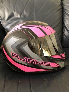 R-Jays Pink/Black Motorcycle Helmet