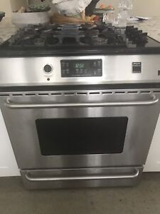 Dual Fuel (gas stove, electric oven) slide in stove