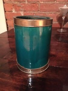 Turquoise glass and silver metal pillar candle holder