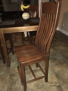 Solid wood table and chair from Wheaton's