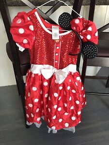 Disney Minnie Mouse Costume size 10 with headband