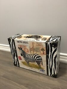 Zebra decor suitcase