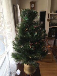 Arbre de Noël à fibre optique
