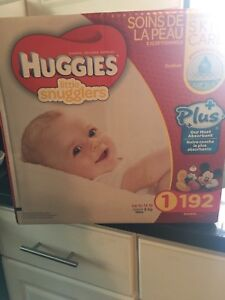 192 size 1 diapers unopened