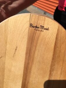 4 Barbra Made steak boards and wooden bowl