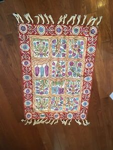 Indian Silk Handmade Mat- 2' X 3'