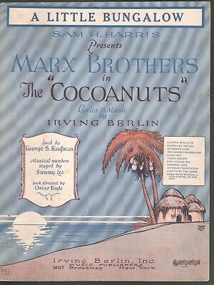 A Little Bungalow 1925 Groucho Marx The Cocoanuts Sheet Music